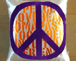 PeacekussenZilver